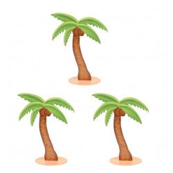 3 MARQUE-PLACES PALMIERS (9CM)