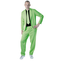 DÉGUISEMENT COSTUME VERT FLUO (TAILLE ADULTE)