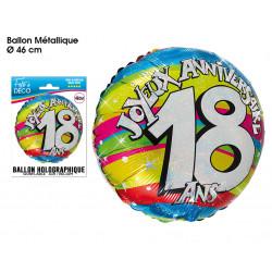 BALLON HÉLIUM 18 ANS (46CM)