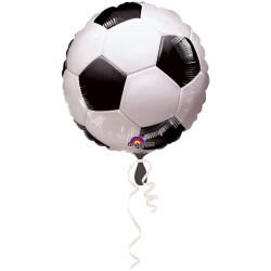 BALLON ALU ROND FOOTBALL (45CM)