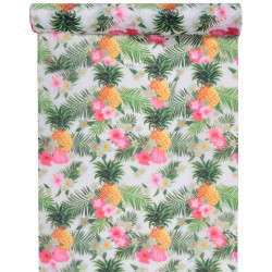 CHEMIN DE TABLE TROPICAL MULTICOLORE (5M)
