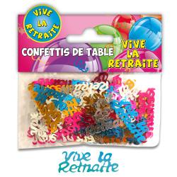 CONFETTIS DE TABLE RETRAITE MULTICOLORE