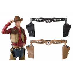 HOLSTER COWBOY FONTE DOUBLE (TAILLE ADULTE)