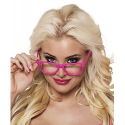 4 LUNETTES PARTY ROSE FLUO
