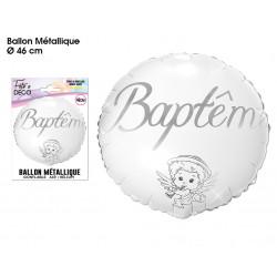 BALLON HÉLIUM BAPTÊME (46CM)
