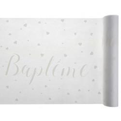 CHEMIN DE TABLE BAPTEME BLANC (5M)