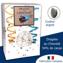 DRAGÉES AU CHOCOLAT 54% ARGENT (500G)