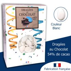 DRAGÉES AU CHOCOLAT 54% BLANC BRILLANT (1KG)