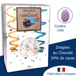 DRAGÉES AU CHOCOLAT 54% LILAS (1KG)