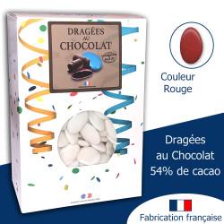 DRAGÉES AU CHOCOLAT 54% ROUGE CARMIN (1KG)