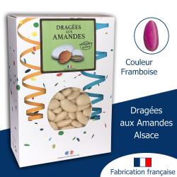 DRAGÉES AUX AMANDES ALSACE FRAMBOISE BRILLANT (1KG)