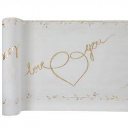 CHEMIN DE TABLE LOVE YOU...
