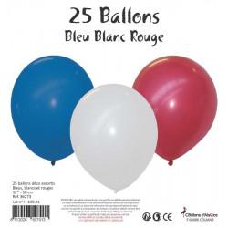 25 BALLONS ASSORTIS BLEU,...