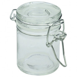 MINI POT A CONSERVE EN VERRE JOINT BLANC (6CM)