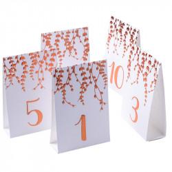 MARQUE-TABLES VÉGÉTAL ROSE GOLD X10 (10X15CM)