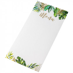 MENUS TROPICAL ET OR X10 (20X10CM)