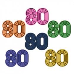 """CONFETTIS """"80'S"""" X10 (3CM)"""
