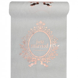 CH. DE TABLE JUST MARRIED ROSE GOLD (28CMX3M)