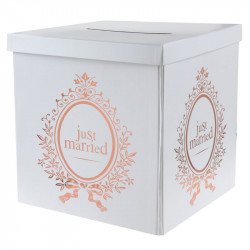 URNE JUST MARRIED ROSE GOLD (20CM) EN CARTON