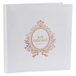 LIVRE D'OR JUST MARRIED ROSE GOLD (24CM)