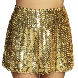 MINI JUPE (TAILLE M) SEQUINS OR STRETCH