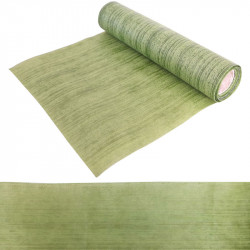CHEMIN DE TABLE STRIES VERT (30CM X5M)